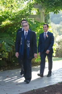 going to the wedding ceremony