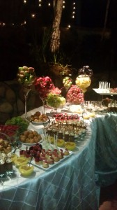 wedding-Fruit and desert station for Shiva